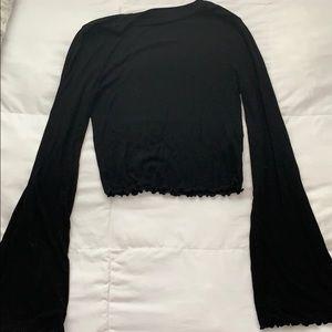 cropped flared long sleeve